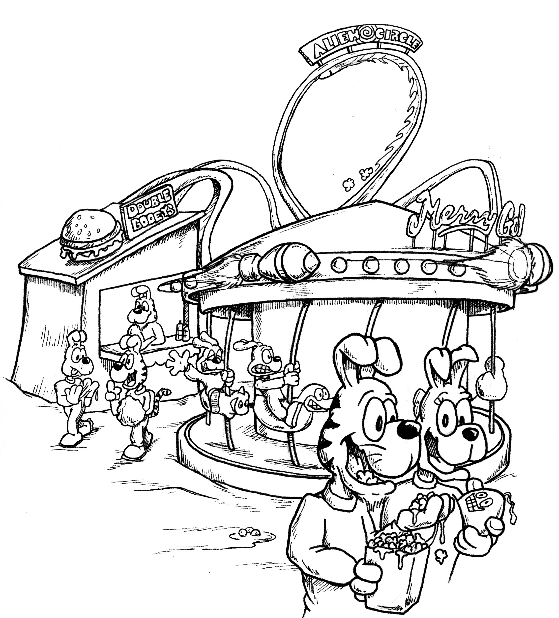 Carnival coloring pages on Coloring-Book.info | 2491x2255